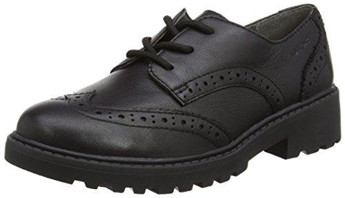 Geox J Casey Girl N, Zapatos Brogue Niñas, Negro