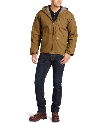 Dickies Men Duck Sherpa Lined Hooded Jacket