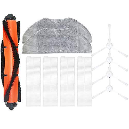 SDFIOSDOI Piezas de aspiradora Filtro de reemplazo Limpieza de la Limpieza Fit para Xiaomi MIJIA G1 Robot Cafila DE Aplicaciones DE VACÍA Cepillo de aspiradora Cepillo Principal Cepillos Laterales