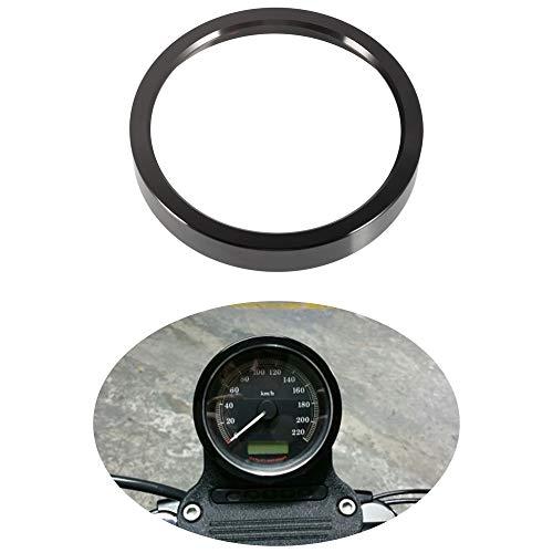 Motorcycle Instrument Gauge Trim Kit Speedometer Bezel Tachometer Cover Ring for XL/Sportster 1200/883 2000-2020 for Electra/Street/Road/Trike Glide 2000-2013 (Black)