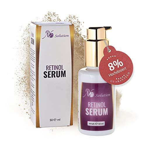 Retinol Serum Mit Vitamin A, Hochdosiert 8% Als Anti Aging Serum Für Gesicht Und Haut In 50 ml