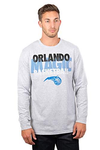 Ultra Game NBA Orlando Magic Mens Supreme Long Sleeve Pullover Tee Shirt, Heather Gray, Large