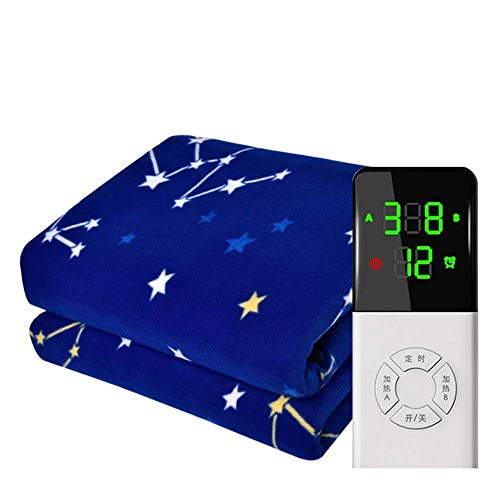 GXYtable cloth Home Electric Heated Throw & Over Blanket, Machine Washable with Digital Remote, Fleece Heated Throw Blanket Timer And 9 Heat Settings,E,Singlecontrol150×80cm