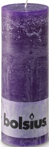Rustikal 103868000353Stumpenkerze, Paraffin Wachs, Violett