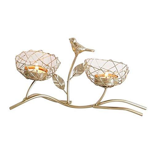 DFGER portacandele Nordic Golden Brough Groughter Candelabro di Lusso Bird profumato Candelabrioso da Sposa Romantico Tavolo da Pranzo Decorazione Candela Candela (Color : A1)
