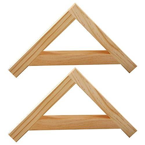 Shelf support 2 Soportes de Madera para Estanterías Escuadras de Andamio de Esquina de Ángulo Recto de 90 ° para Montaje en Pared Marco de Soporte para Colgar con Accesorios para Sala de Estar Cocina