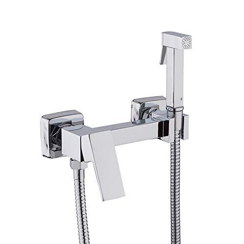 Bidé lavado de cabezal de ducha rociador de ducha higiénico limpieza caliente y amp;mezclador en frío kit de rociador para inodoro ducha bidet grifo, F7504, como se muestra