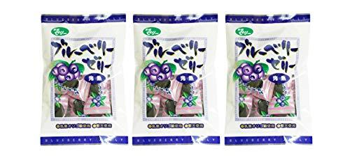 無添加 ブルーベリーゼリー 完熟味 110g ×3個 ★送料無料 ネコポス★甘味は水飴とオリゴ糖を使用し、砂糖は使用せずに作った完熟ブルーベリーの寒天ゼリーです。