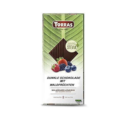 Chocolate Negro Con Frutas de Bosque Sin Azúcares/STEVIA. / 125 Grs
