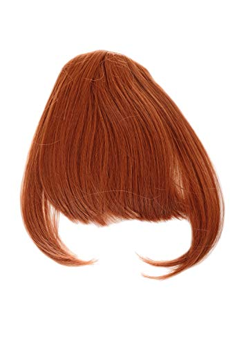 WIG ME UP - YZF-W1030-350 Clip-In Pony Haareinsatz lange Strähnen an der Seite dunkles Rot Kupferrot