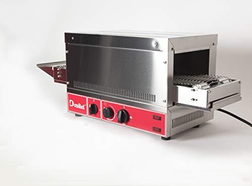 Dosillet TT3001 Professioneller elektrischer Tape Toaster 3000 W einphasig mit Widerstandsknopf. Für PAN, PIZZAS, HOCHWERTIGE BOCADILLS, GRATINAR. Ideal für FRANQUICIAS und/oder SERVICE DELIVERY