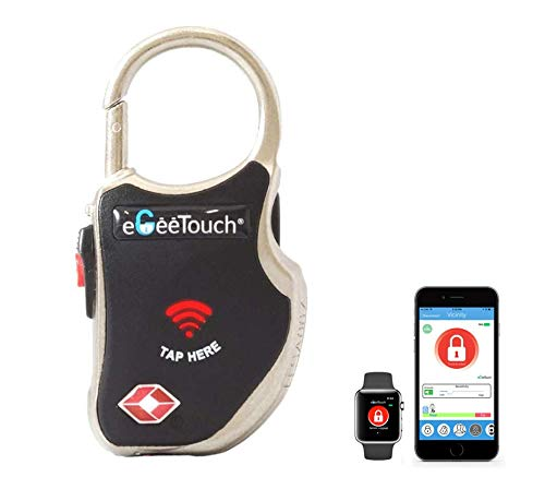 eGeeTouch Smart TSA Travel Lock - Secure & Track Your Luggage, Backpack, Cabinet Anywhere You go. (Single Black)