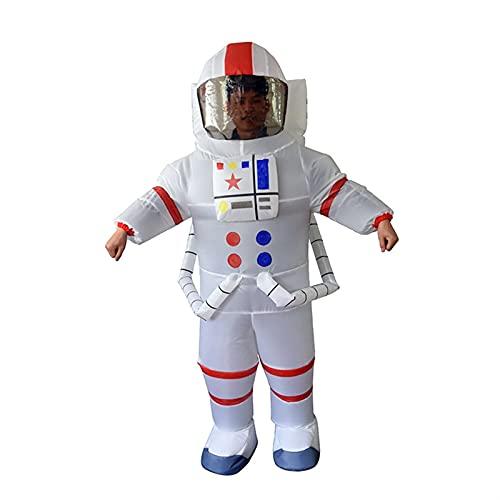 YYCHER Traje de astronauta inflable para adultos, disfraz de cosplay o disfraz de Halloween, color blanco, tamaño: 150 190 cm