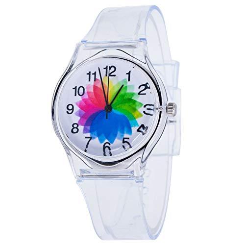 Fliyeong - Reloj de pulsera de cuarzo analógico para niños y mujeres, muy práctico y popular