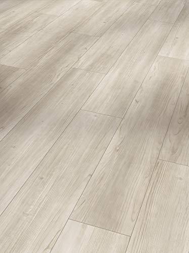 Parador Modular One - Bodenbelag Pinie Rustikal Grau - Elastischer Bodenbelag in Holz-Optik, schallgedämmt, mit Klick-Verlegung - ohne Weichmacher - 1285 x 194 x 8 mm