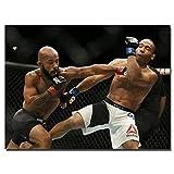 UFC Flyweight Champion Art Canvas Poster Demetrious Johnson Picture For Living Room Decor Imprimir en Lienzo -60x80CM sin Marco
