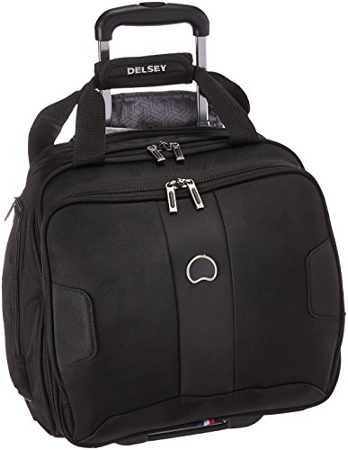 DELSEY Paris Sky Max 2.0 Softside Luggage Carry-on Under-Seater, 2 Wheels, Black, 15 Inch