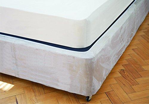 Copertura per base del letto e del divano, dimensioni per letto Super King, colore: beige lino