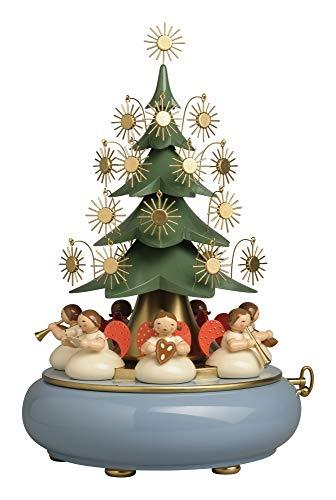 Wendt & Kühn Spieldose mit unter dem Baum sitzenden Engeln Stille Nacht