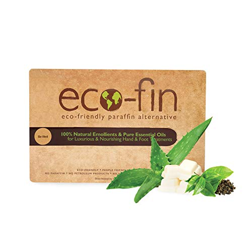 Eco-Fin Be Well Paraffin Wax Alternative | 100% Plant-Based, Green Tea & Aloe Blend | 40 Pc. Tray