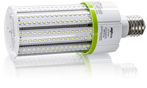 40W LED Corn Light Bulb - Natural White 5000K, Replaces 400W Incandescent, 4,600 Lumens, Mogul Base E39, 100-277V AC UL DLC