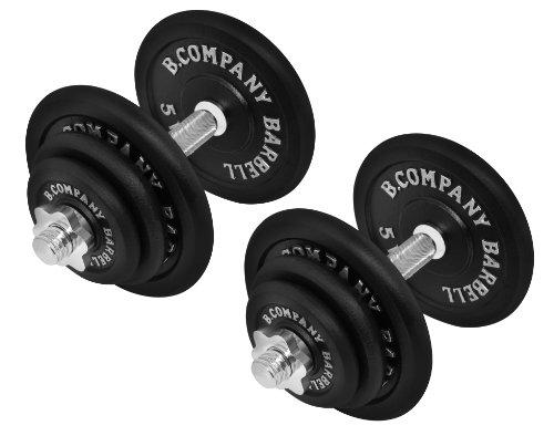 Bad Company 2er Set Kurzhanteln Gusseisen I Verschiedene Gewichtsstufen I Professionelles Equipment für Krafttraining und Kraftausdauer (C - 2 x 20kg)