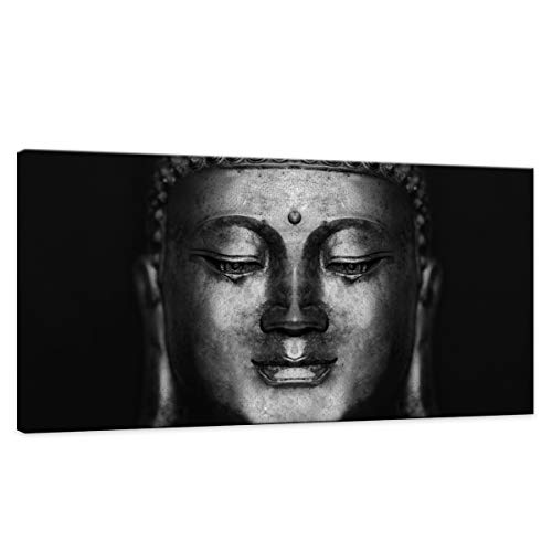 Wall Art For Bedroom Canvas Wall Art Black Abstract Buddha Wall Art Head Paintings Pictures Artwork Framed for Decor /Home Decoration size:24x48inch 1pcs/set