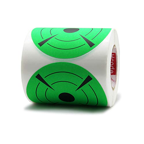 Hcode 3 Inch Round Adhesive Target Pasters Fluorescent Shooting Targets Stickers Target Dots for Shooting Total 250 Pcs (Fluorescent Green)