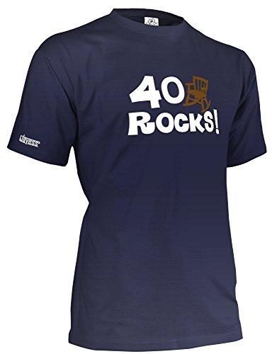 40 Rocks - Herren - T-Shirt in Navy by Jayess Gr. XXXL