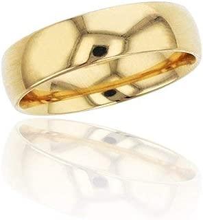 10K or 14K Yellow, White, Rose Gold 5mm Polished Plain Wedding Band, Size