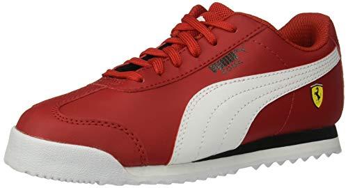 PUMA Baby Ferrari Roma Sneaker, Rosso Corsa White Black, 10 M US Toddler