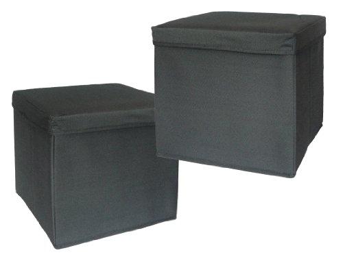 Preform 4201621102G 2-Stück Canvas Hocker mit Aufbewahrung