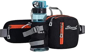 Binval Hiking Waist bag Fanny Pack with Water Bottle Holder Great for Hiking, Walking, Biking, Running, Travel, & More, Lightweight Fannie Hip Bag Lumbar Pack for Men and Women