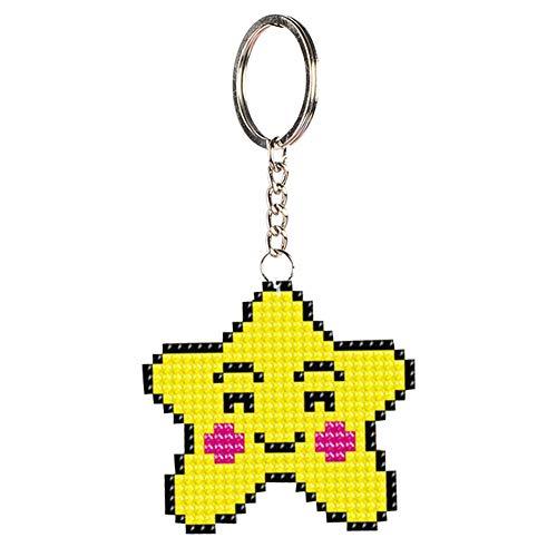 Adorable mochila de cadena hecha a mano, con cuentas de punto de cruz y kit de bricolaje, bolso de mochila, impresión de precisión, patrón de estrellas