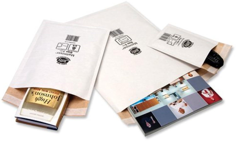 Jiffy Mailmiser Luftgepolsterte Schutz-Versandttaschen No. 000 (90 x 145 mm), 150 Stück weiß B000SHV9Z0 | Elegante und robuste Verpackung