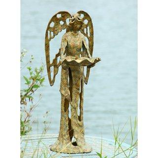 SPI Cast Iron Garden Angel Bird Feeder