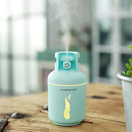 YNHNI Deumidificatori Umidificatore Serbatoio Gas/Piccolo Ventilatore/Luce Notturna/aromaterapia/Quattro (Color : Blue)