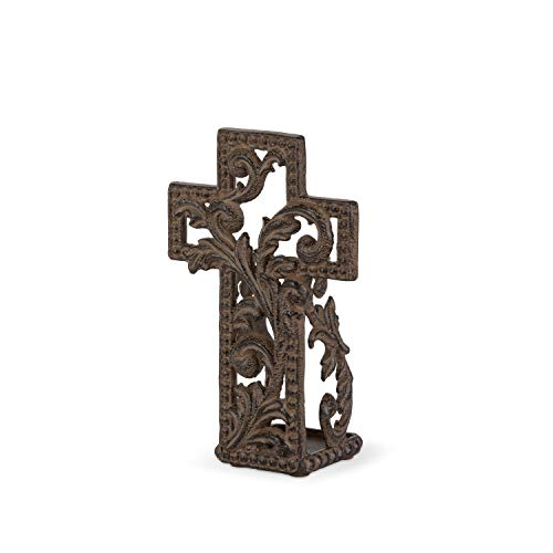 GG Collection Metal Acanthus Cross Votive