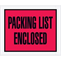 Aviditi PL402 Full Face Envelope Packing List Enclosed 4-1/2 Length x 5-1/2 Width Red (Case of 1000) [並行輸入品]