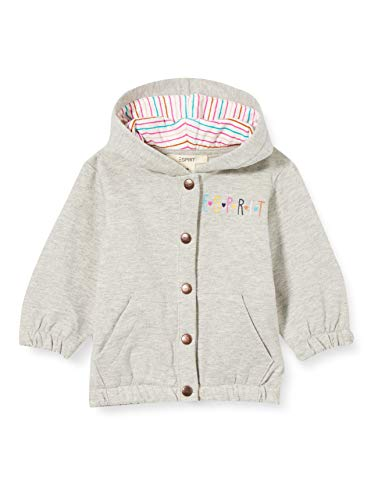 ESPRIT Baby-Mädchen Sweatjacke Sweatshirt, medium Grey 5|Gray, 86