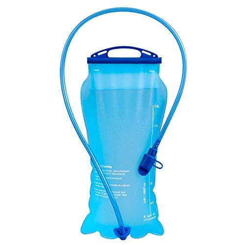 TWBEST Bolsa de hidratación,Bolsa de Agua Portátil,2L Mochila Hidratación Portátil sin BPA, Bolsa de Agua con Sistema de Auto-Bloqueo y Apertura Grande, para Ciclismo, Senderismo, Carrera, Escalada