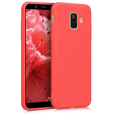 kwmobile Custodia Compatibile con Samsung Galaxy A6 (2018) - Cover in Silicone TPU - Back Case per Smartphone - Protezione Gommata Corallo Vivo