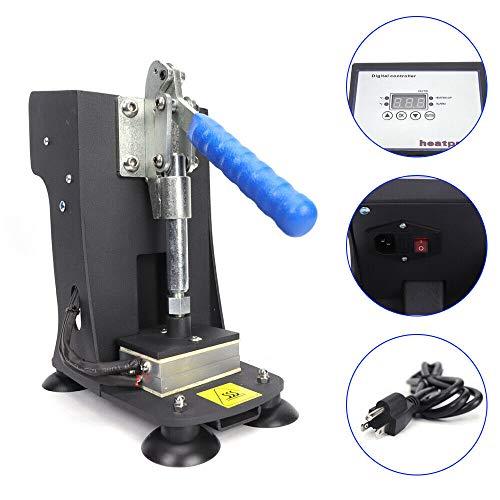 BoTaiDaHong 110V Portable Press Machine 2'x3' Dual Heat Plates LCD Touch Type Control Double Heat Sub-Limation Print Handheld 110V