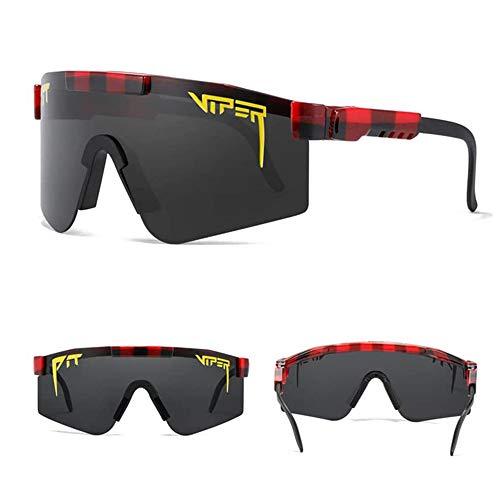 ASASD 2021 Nuevas Gafas de Sol Pit Viper, Gafas de Sol para Exteriores a Prueba de Viento, Gafas de Sol polarizadas Comfort Sports para Hombres y Mujeres, Gafas de Sol para Ciclismo, béisbol (C19)