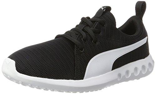 Puma Unisex-Kinder Carson 2 Jr Sneaker,Schwarz (Puma Black-Puma White), 37.5 EU