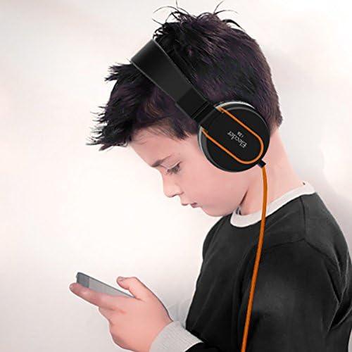 Elecder i36 Headphones, Kids, Black/Orange