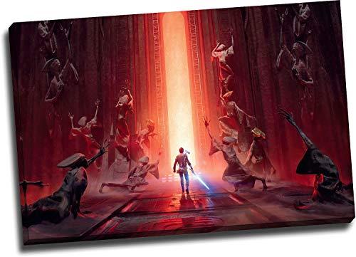 Trelemek Star Wars - Lienzo decorativo para pared (76,2 x 50,8 cm), diseño de Jedi Fallen OrderVideo Movie Poster Art de pared, listo para colgar