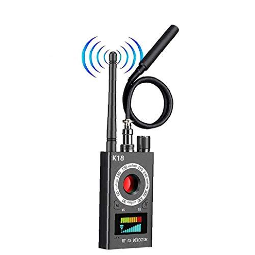 Bug Detector de señal de la cámara Detector de Errores de Dispositivos Buscador Anti espía Detector localizador GPS inalámbrico para el GPS de Seguimiento de gsm Escuchar Negro