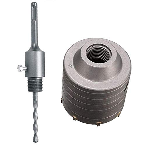 Drill 1 Set Sds Pl 80Mm Concrete Hole Saw Electric Hollow Core Drill Bit Shank 110Mm Cement Stone Wall Air Conditioner Alloy