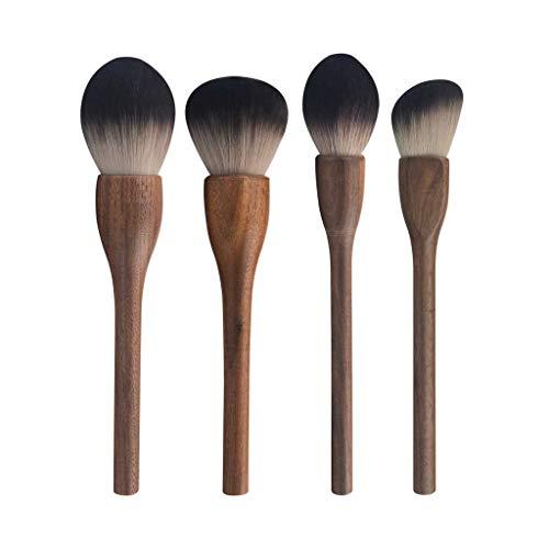 Pinceau de maquillage GCX- 4 Paquets de, Les Cheveux Doux, Doux en Poudre, Fard à paupières Brosse, Brosse de Maquillage Professionnel Beau
